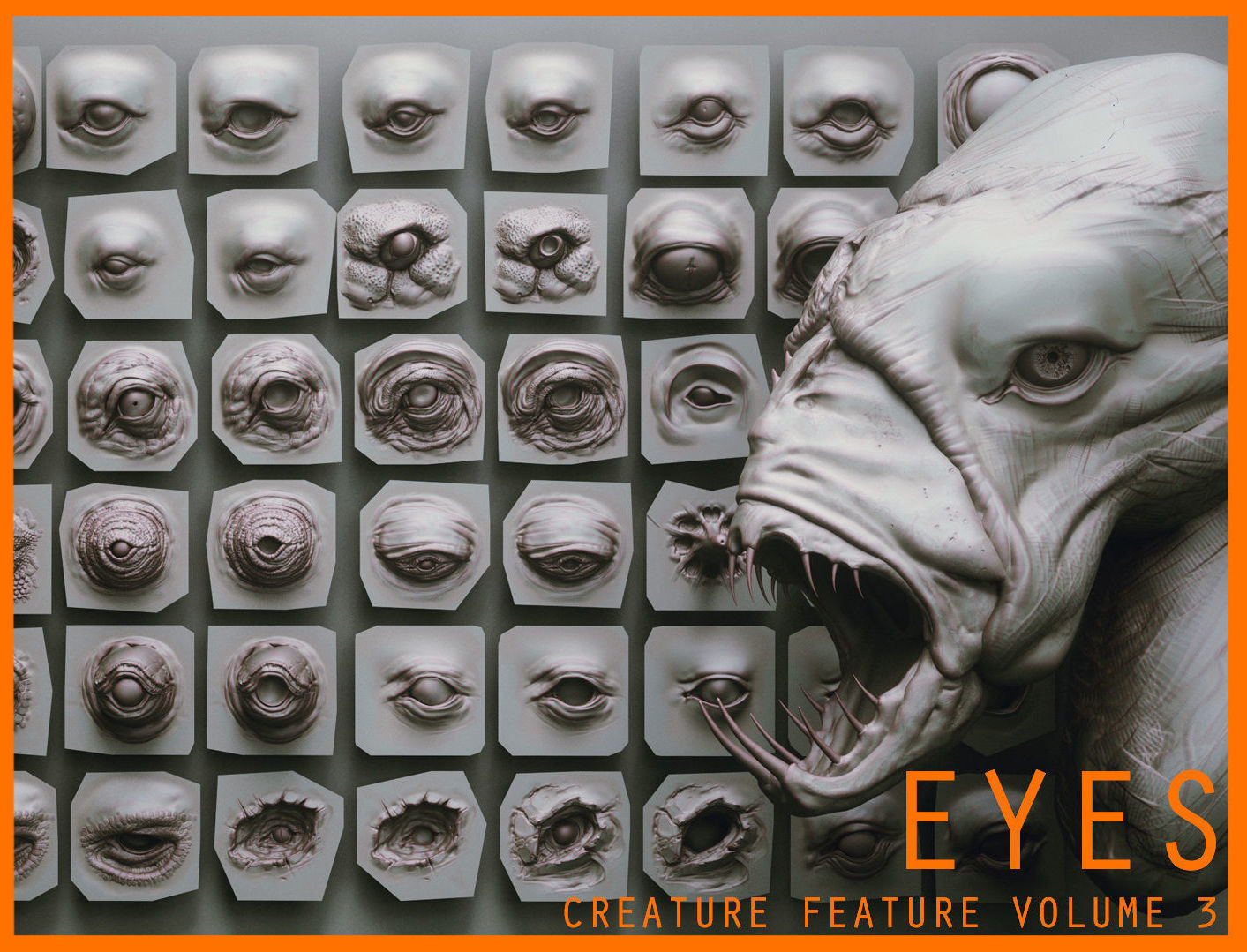 EYES - 28 Zbrush VDM creature eyes and 15 eyeballs