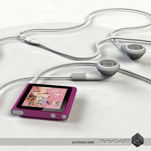 nano 6th gen - single purple 3d model max obj mtl 3ds fbx c4d lwo lw lws 1
