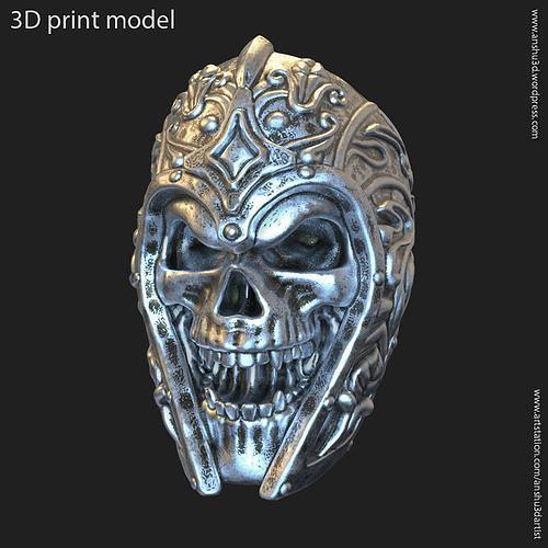 Ancient Warrior skull vol1 ring jewelry
