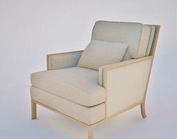 3D Boxback Lounge Chair