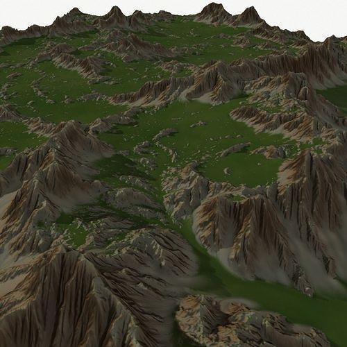 landscape 50 3d model obj mtl 1