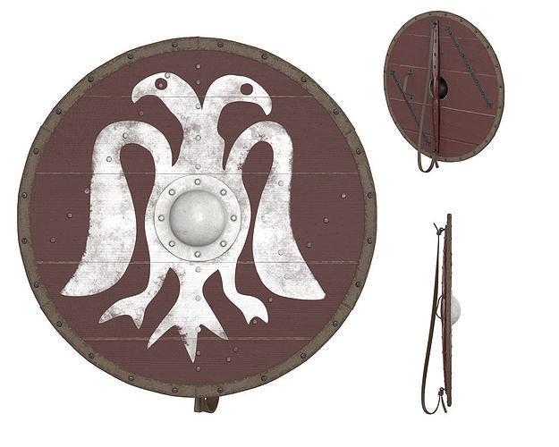 viking round shield 1 3d model max obj mtl fbx mdl 1
