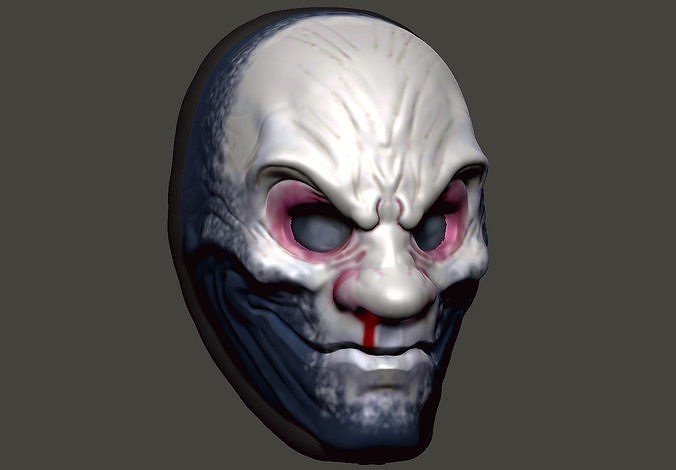 The While Death mask