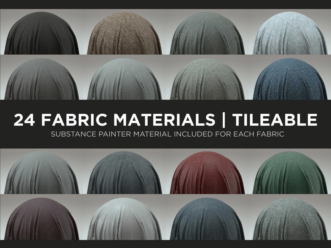 24 Fabric Materials - Part 1