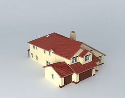 luxury house house 3d model free - Free 3d House