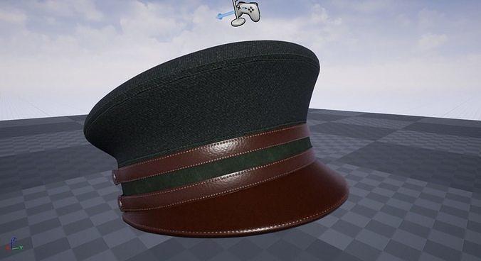 c8f8fe38ac9 ... military hat 3d model max obj mtl fbx ztl unitypackage prefab uasset 7  ...