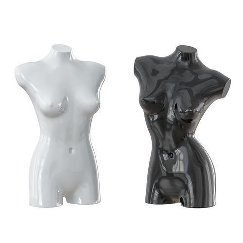black and white female mannequin 08 3d model max obj mtl 3ds fbx c4d dxf 1
