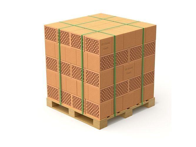 hollow clay blocks and wooden pallet 3d model obj mtl fbx blend 1