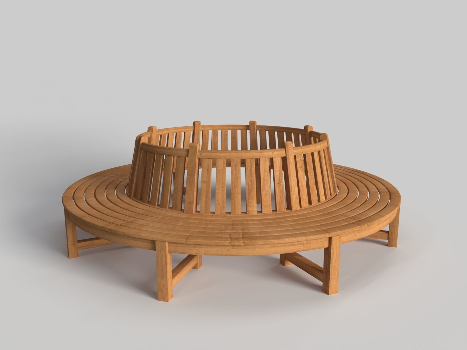 Cool Circular Wooden Bench 3D Model Cjindustries Chair Design For Home Cjindustriesco