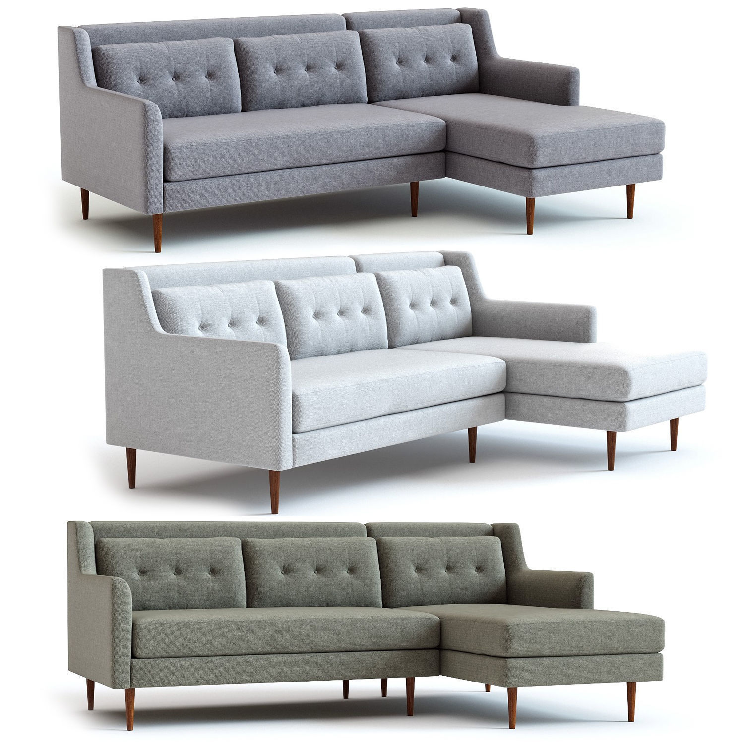West Elm Crosby 2 Piece Sectional Model