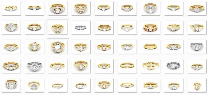 180 Solitaire Engagement Wedding Ring cad 3 rneder details