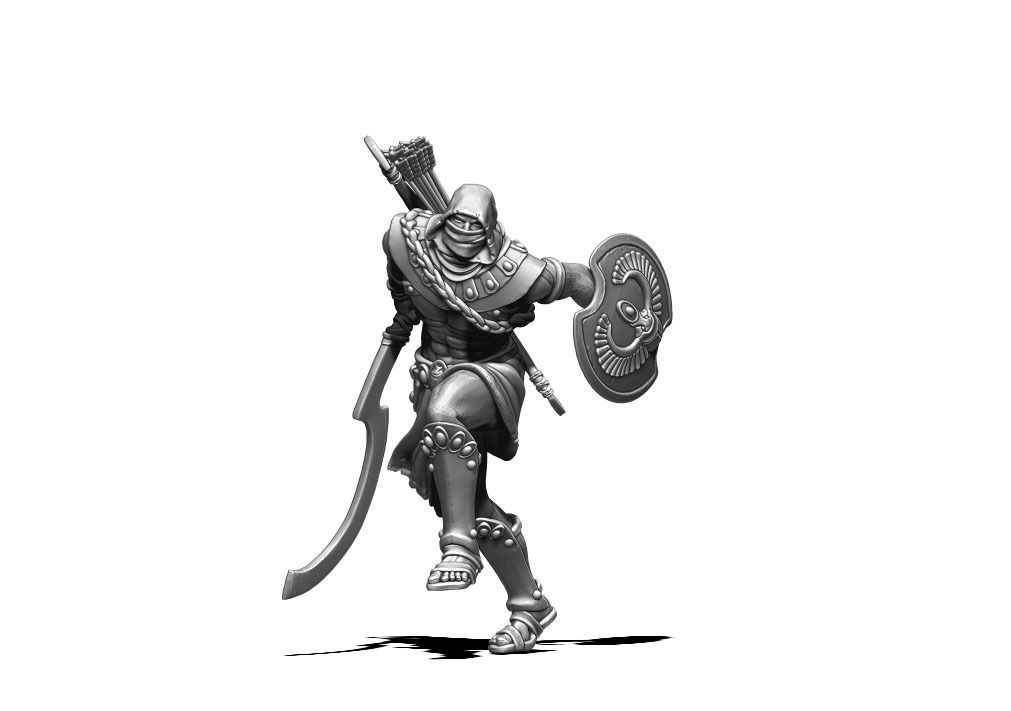 Nubian assassin - Khepri 35 mm scale - 3D print model