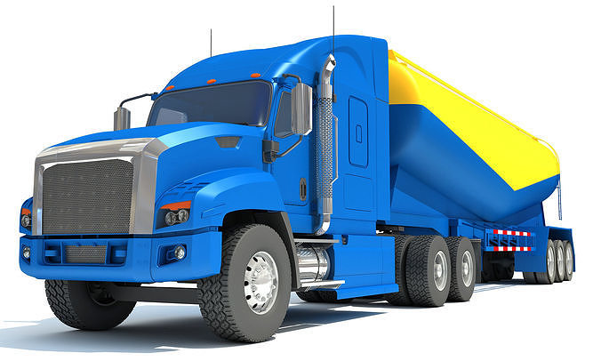 truck with tanker trailer 3d model max obj mtl 3ds c4d lwo lw lws ma mb 1
