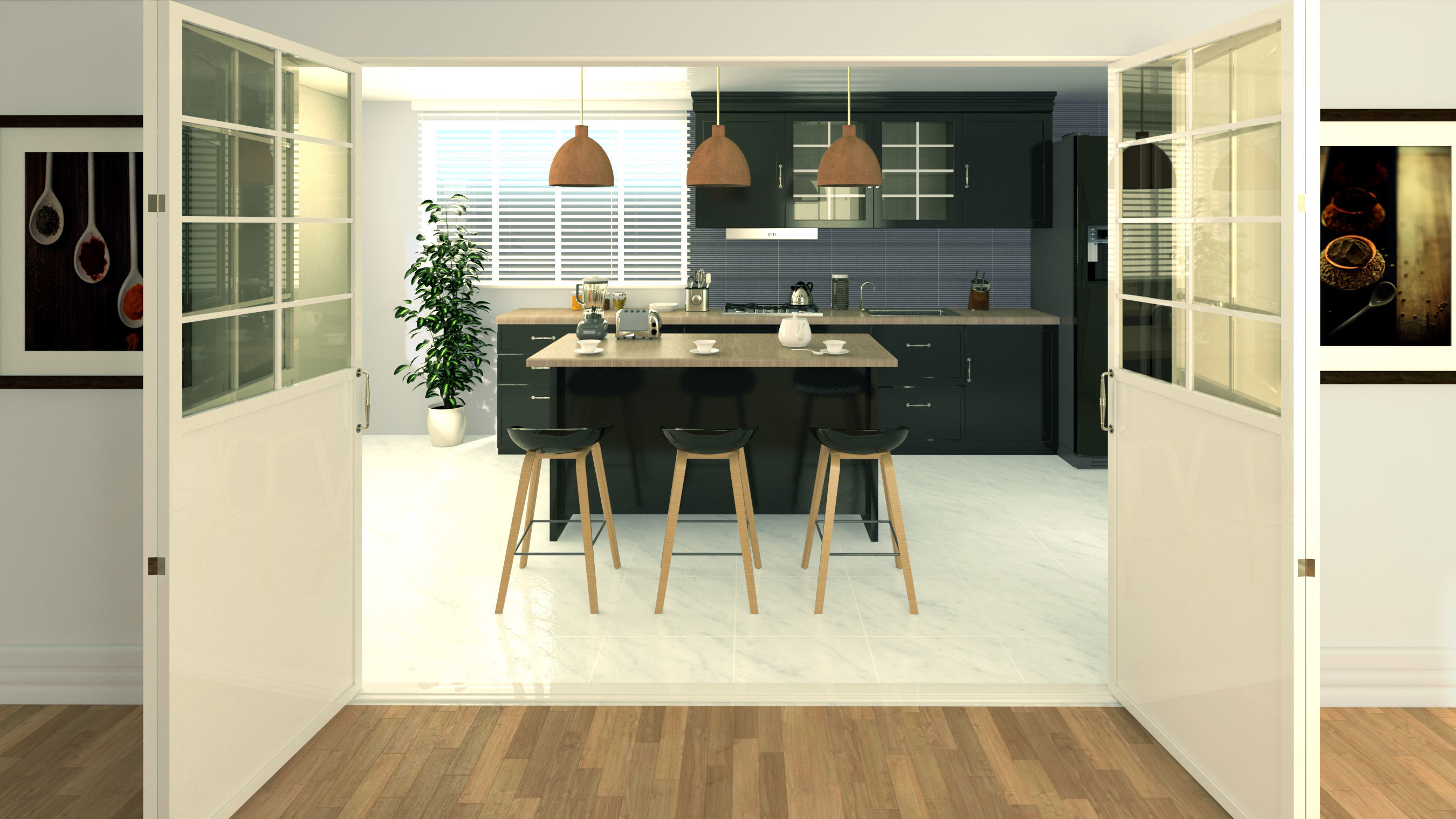 kitchen interior in sketchup   3D model