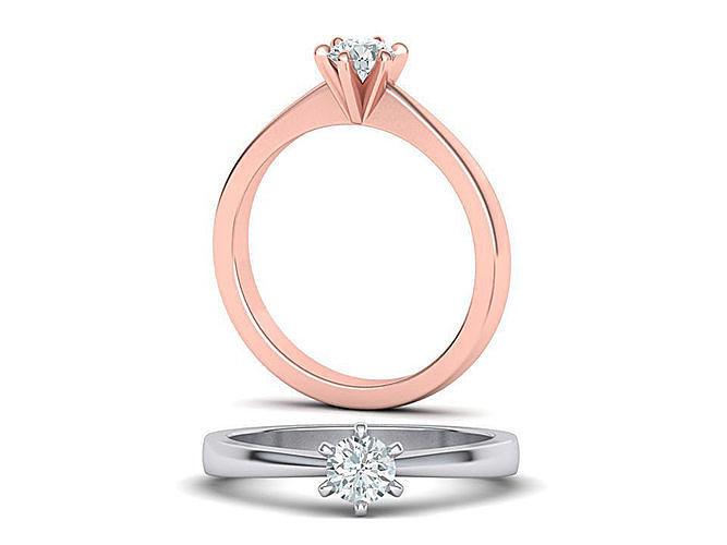 six-prong petite engagement ring 3dmodel 3d model stl 3dm 1
