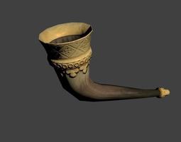3D model Medieval Drinking Horn Viking