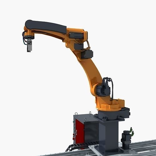 industrial robot 3d model max fbx 1