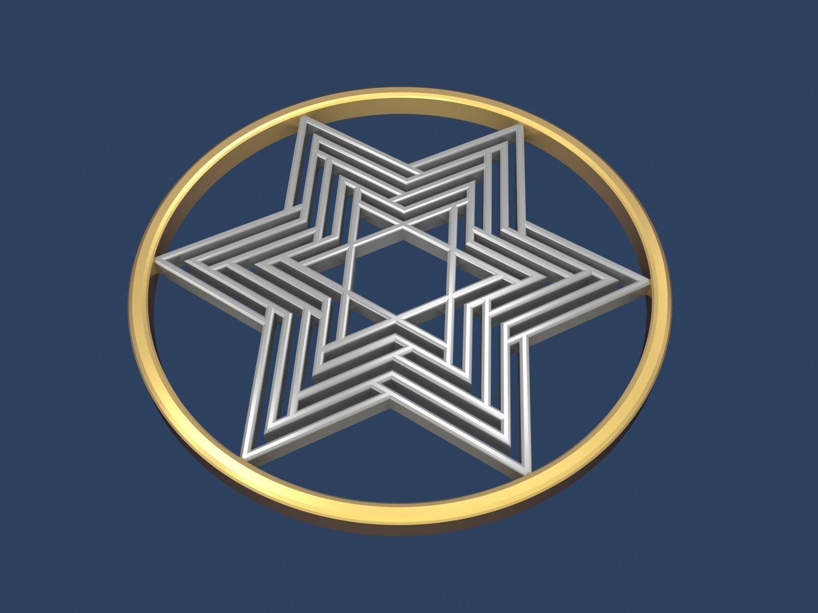 Star of David Circle