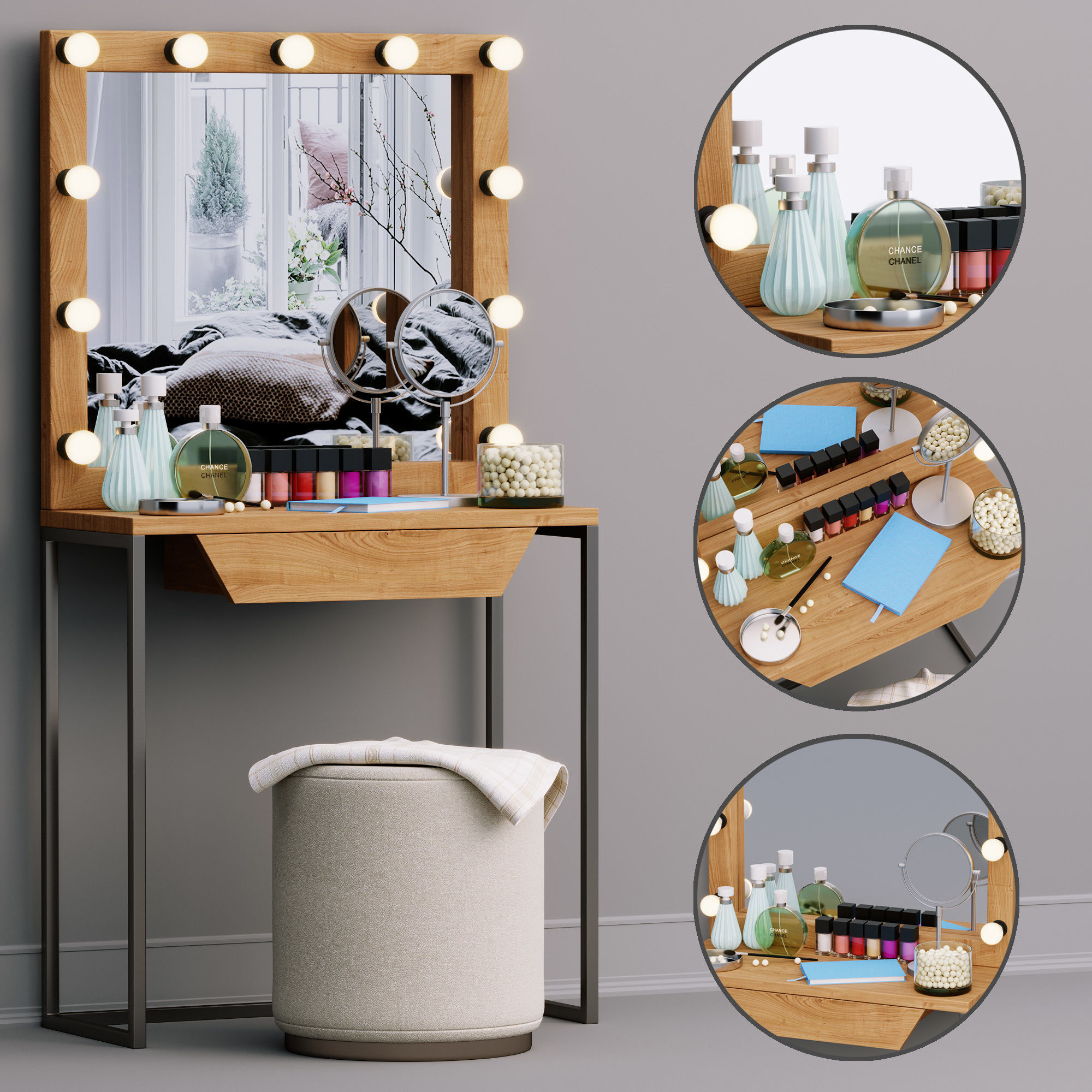 3D model Decorative set Dressing table