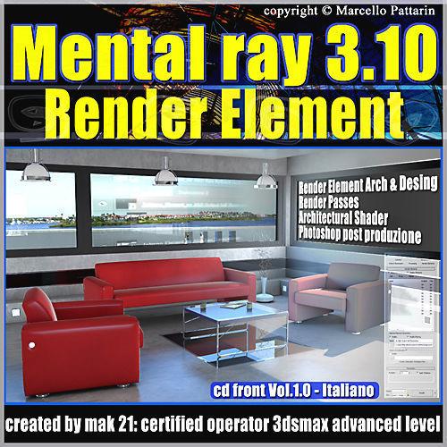 Mental Ray 3 10 3dsmax 2013 Vol 1 Render Element  cd front
