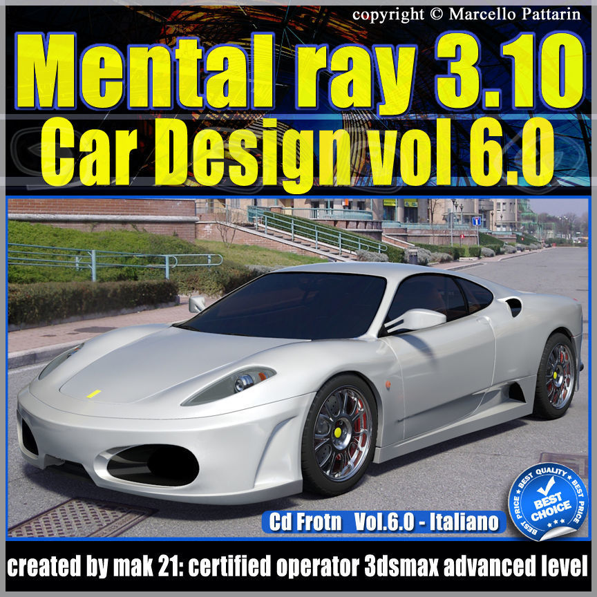 Mental Ray 3 10 3dsmax 2013 Vol 6 Materiali Car Paint cd front