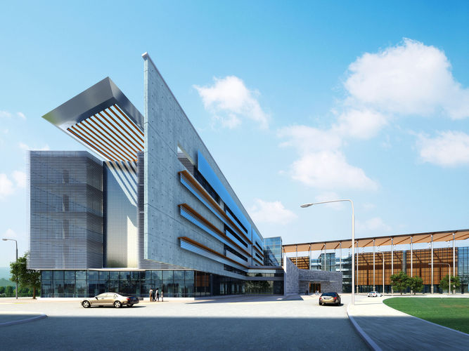 city fashion office hotel landscape architectural design 113 3d model max 1