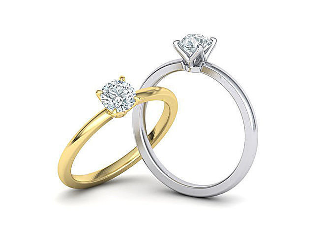 elegant solitaire ring with 5mm stone claw  setting 3dmodel 3d model stl 3dm 1