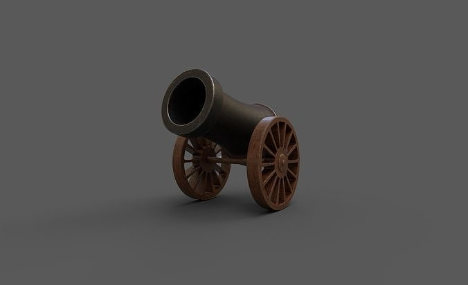 Stylized Cannon Low-poly 3D model
