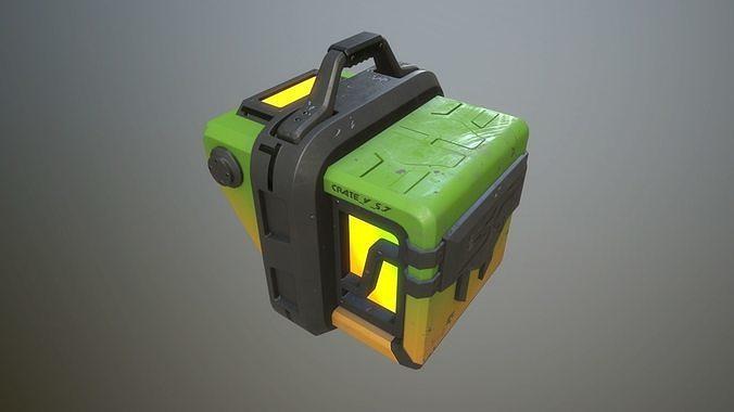 sci-fi crate 3d model obj mtl 3ds fbx stl dae 1