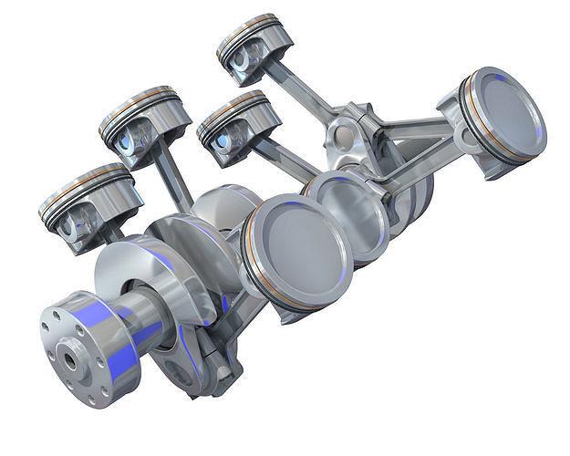 v8 engine cylinders 3d model max obj mtl 3ds c4d lwo lw lws ma mb 1