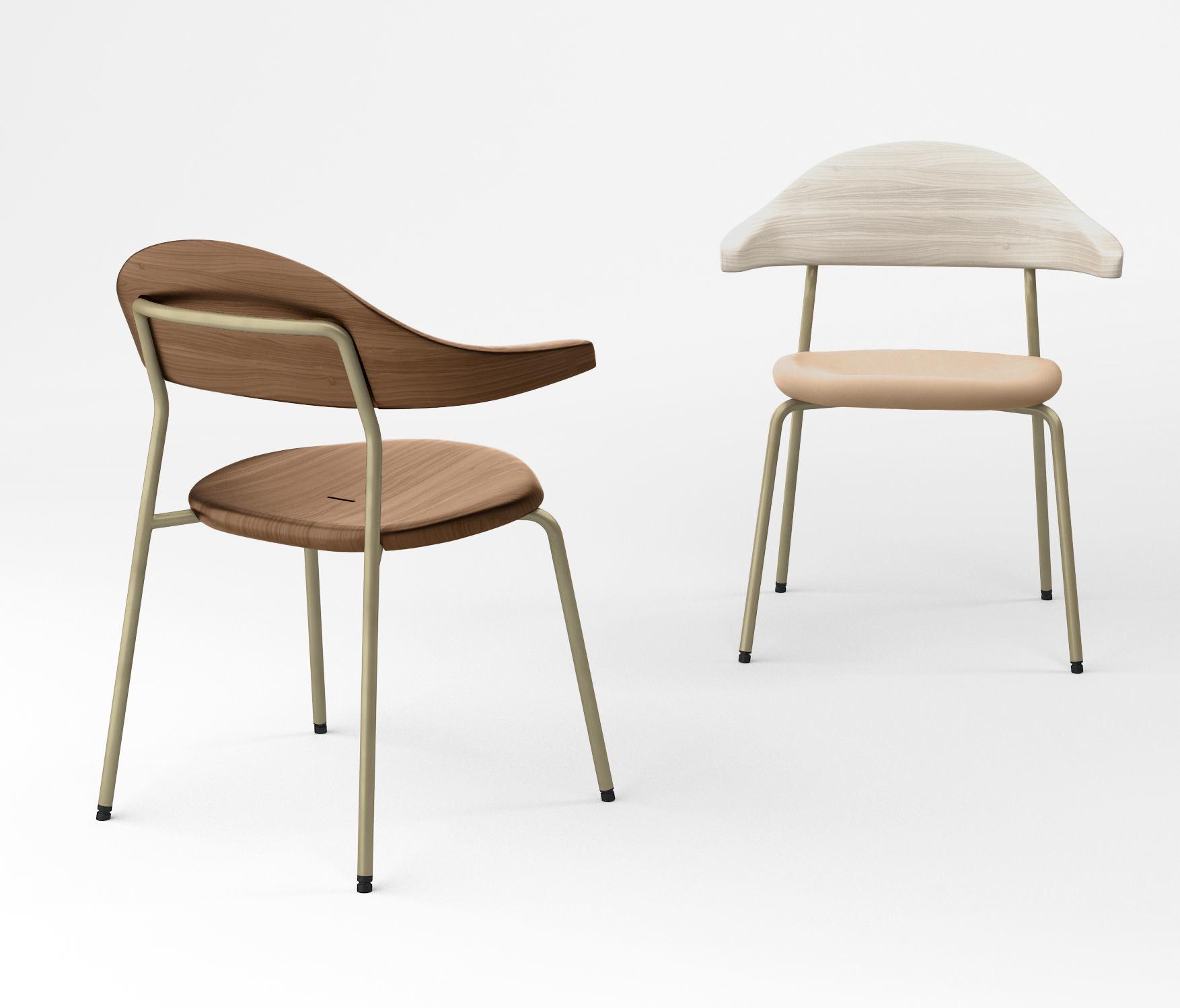 Bassam Fellows Bicorn side chair