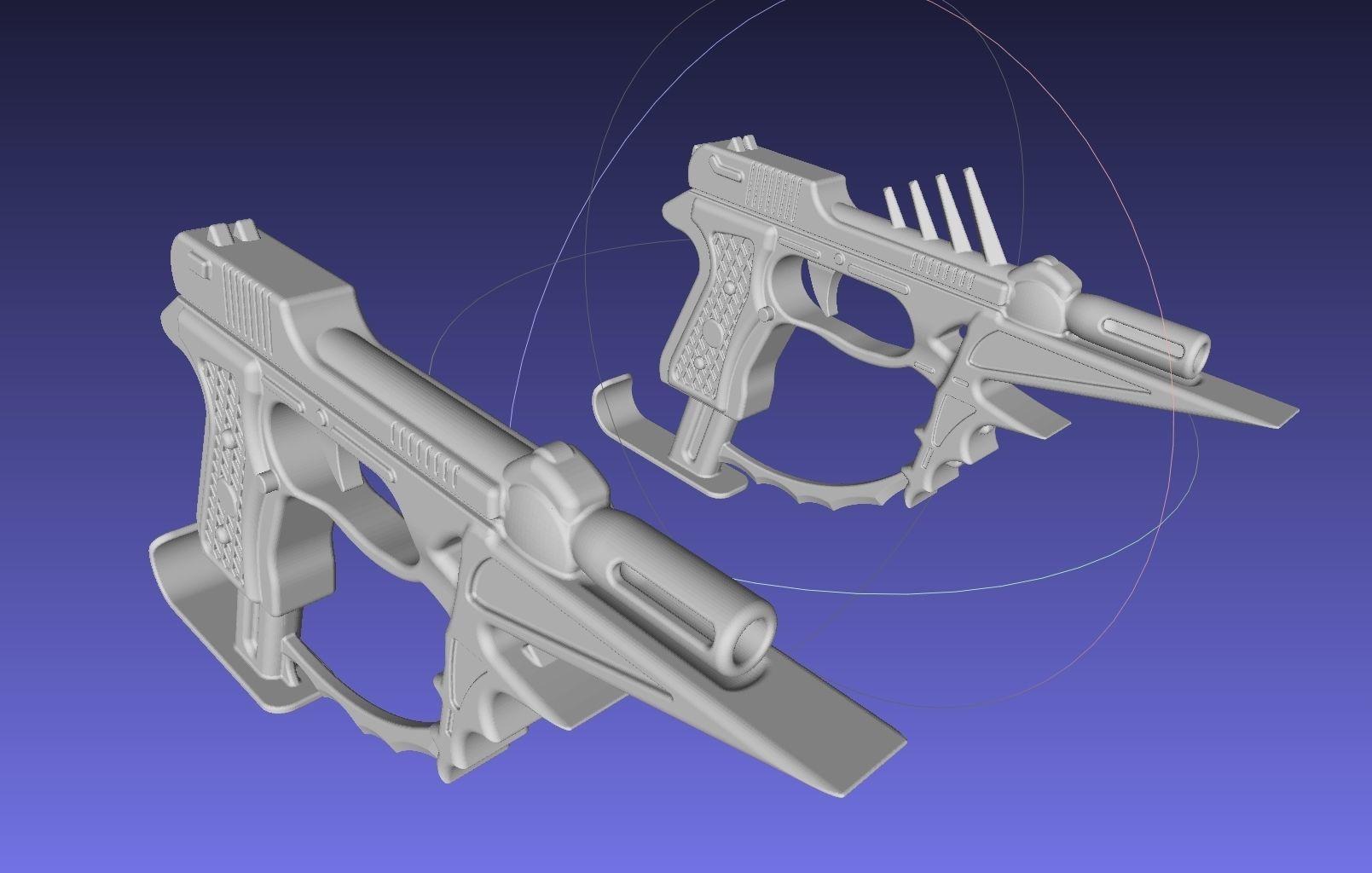 Black Bullet Kagetane Hiruko Guns Printable Models | 3D Print Model