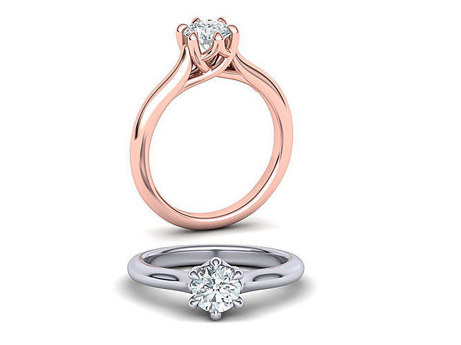 six prong trellis solitaire engagement ring 3dmodel version2 3d model stl 3dm 1