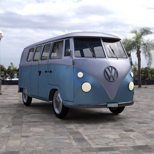 volkswagen combi for daz studio 3d model pdf duf 1