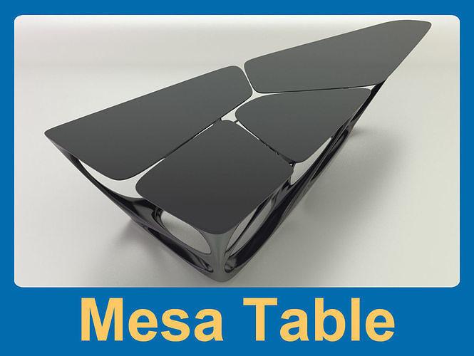 mesa table 3d model max obj mtl fbx 1
