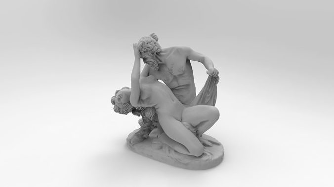 satyre and bacchante at the louvre 3d model stl 1