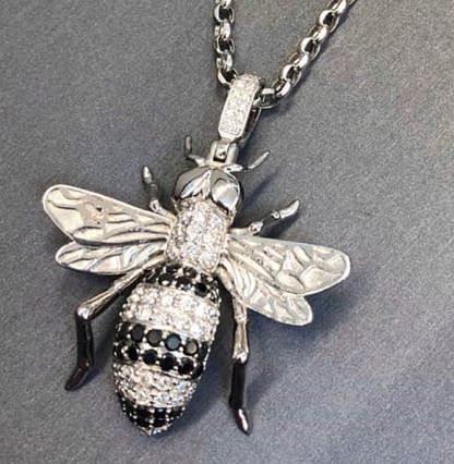 bee diamond pendant 3d model stl 3dm 1