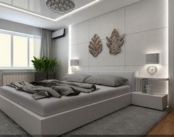 interior scene - flat 01 - modern style - 2 part 3d