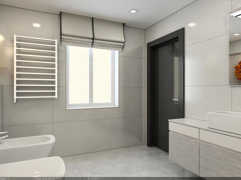 Interior scene flat 01 modern style 2 part 3d model for Modern flat interior