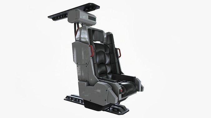 spaceship chair 3d model max obj mtl fbx tbscene tbmat 1