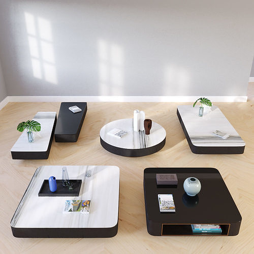 milton coffe table 3d model max 1