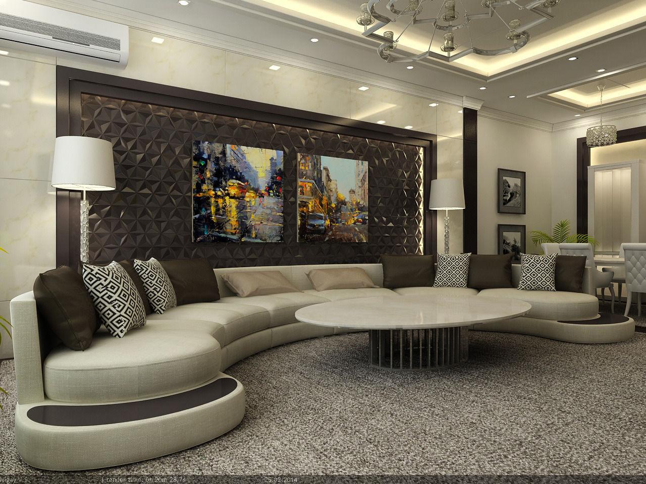 Interior Scene Flat 03 Living Room Model