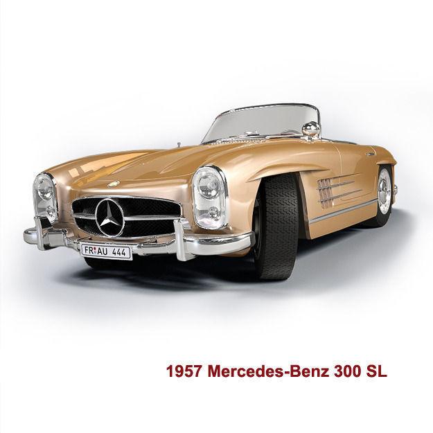 Mercedes benz 300sl roadster 1957 3d model max for 1957 mercedes benz 300sl