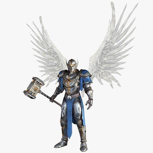 angel knight by fear1ess 3d model max obj mtl 3ds fbx 1