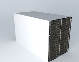 3D model Huawei E9000 Server Hosting Platform