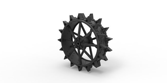 Diecast Rear wheel from old tractor