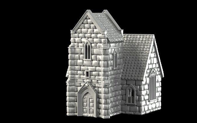 chapel 3d model stl 1
