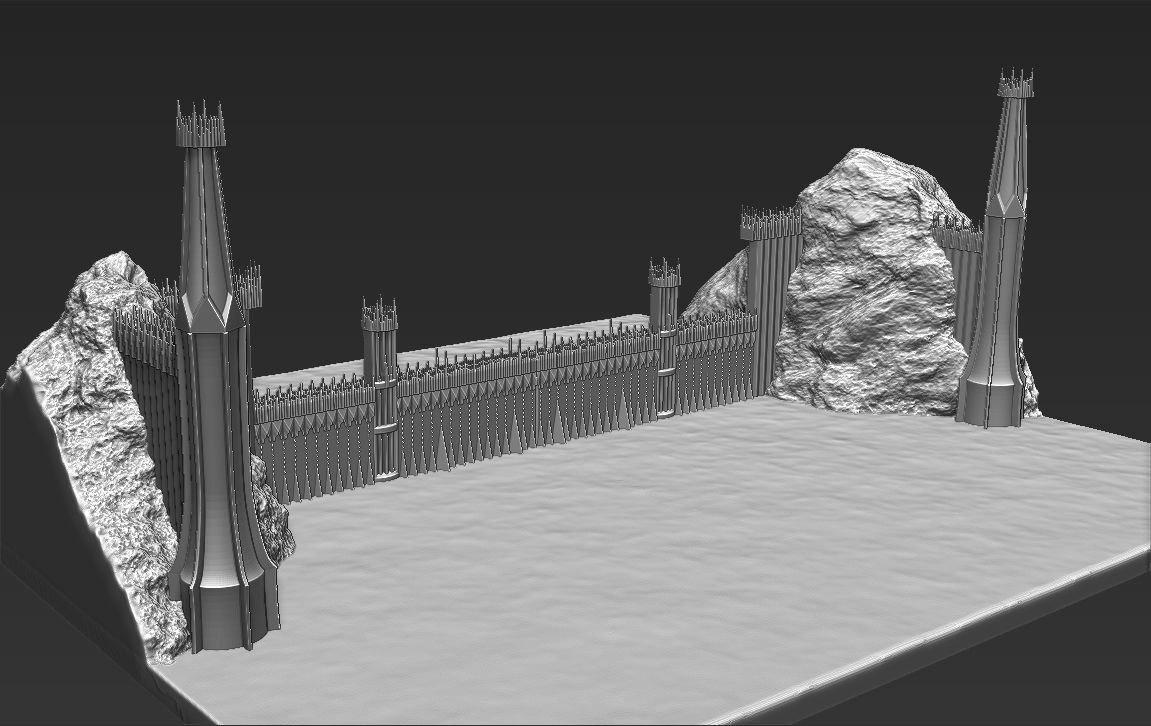 The Black Gate of Mordor from The Lord of the Rings stl obj