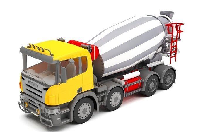 concrete mixer 3d model max obj mtl ms 1
