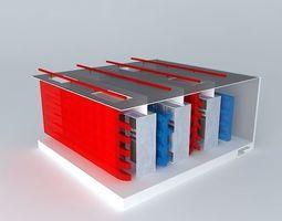 3d model hot aisle cold aisle isolation using wall panels